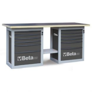 "Beta C59B-G ""Endurance"" Workbench With Two Cabs With Six Drawers (Gray)"